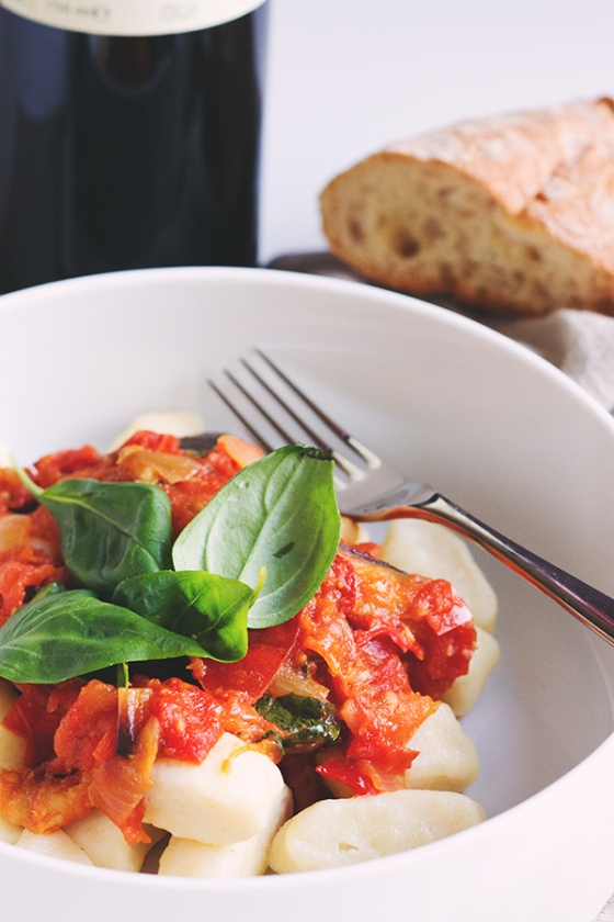 Ricotta Gnocci in Roasted Tomato Sauce | Fig & Honey