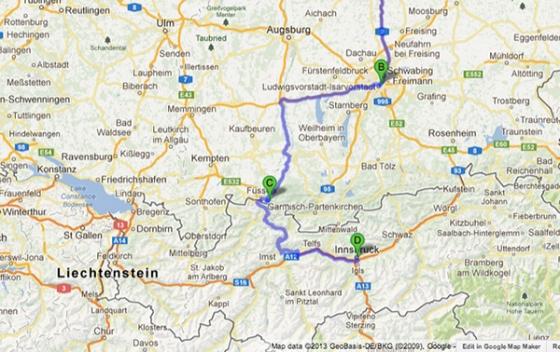 map of innsbruck