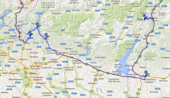 map of como
