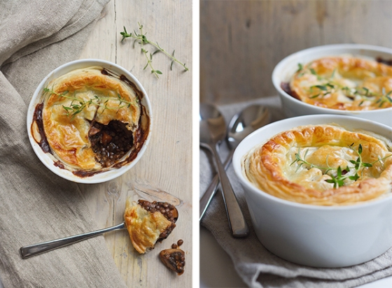 Mushroom, Thyme & Lentil Pies | Fig & Honey