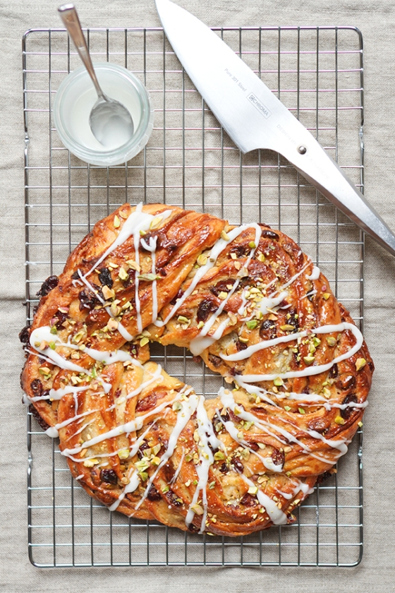 Pistachio and Cranberry Couronne | Fig & Honey