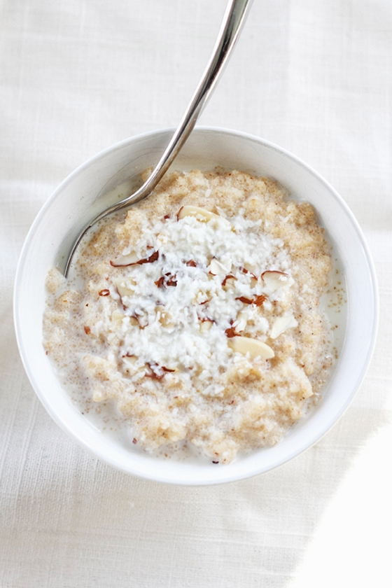 Cardamom and Coconut Semolina Porridge | Fig & Honey