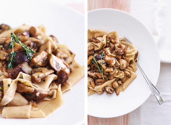 Toasted Pappardelle and Mushroom Ragu | Fig & Honey